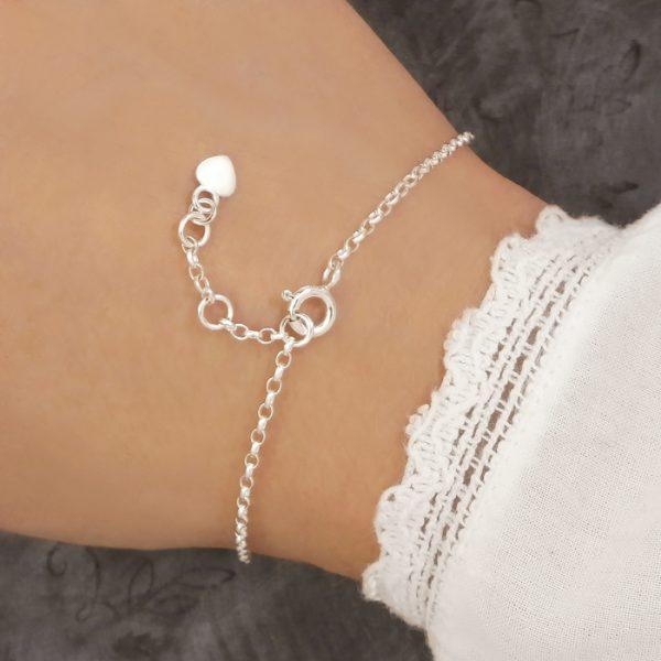 adjustable bracelet fastener sterling silver