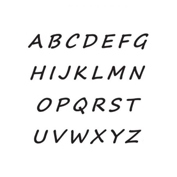 personalised inital font