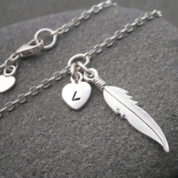 silver angel feather bracelet swj125 2