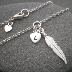 silver angel feather bracelet swj125