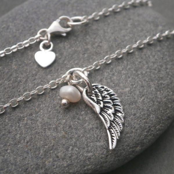 silver angel wing bracelet swj122 3
