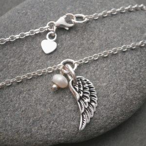 silver angel wing bracelet swj122