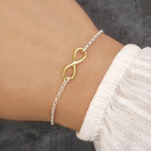 infinity bracelet gold swj209