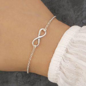 silver infinity bracelet swj139 1