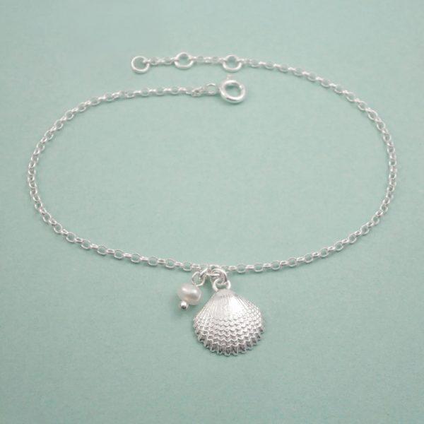 silver shell bracelet swj263 2
