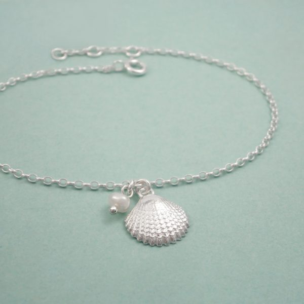 silver shell bracelet swj263 3