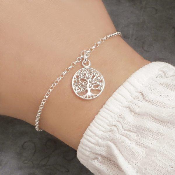 silver tree of life bracelet swj123 1