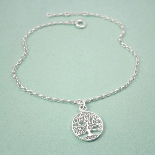 silver tree of life bracelet swj123 2