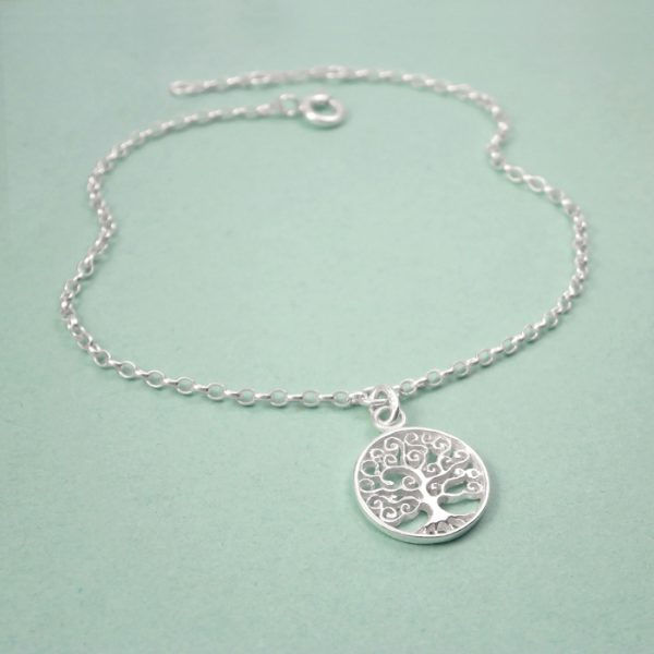 silver tree of life bracelet swj123 3