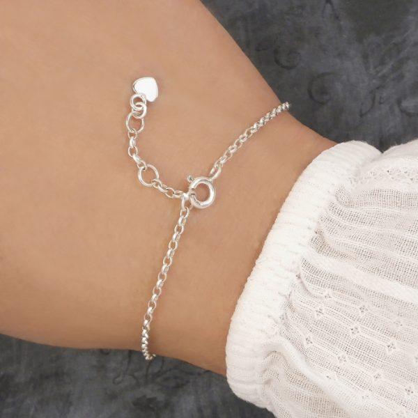 sterling silver adjustable bracelet fastener