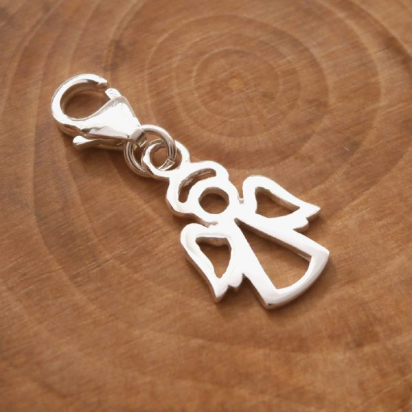 sterling silver angel clip on charm swj97 2