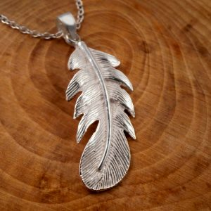 sterling silver angel feather necklace swj04