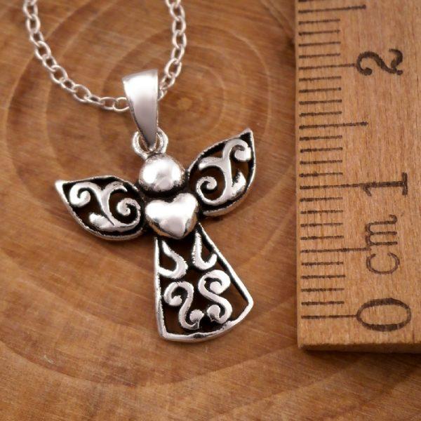 sterling silver guardian angel necklace swj13 2
