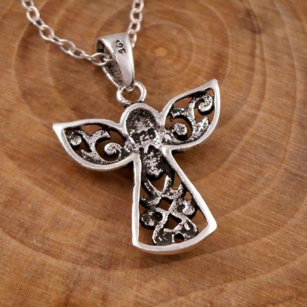 sterling silver guardian angel necklace swj13 3