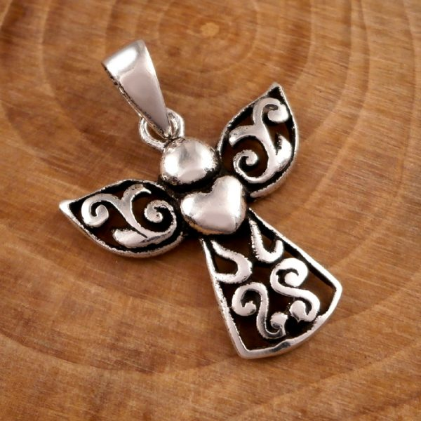 sterling silver guardian angel necklace swj13 4