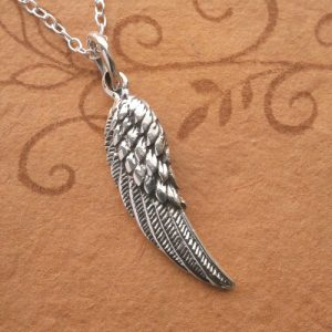 sterling silver angel wing necklace swj21