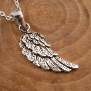 sterling silver angel wing necklace swj92