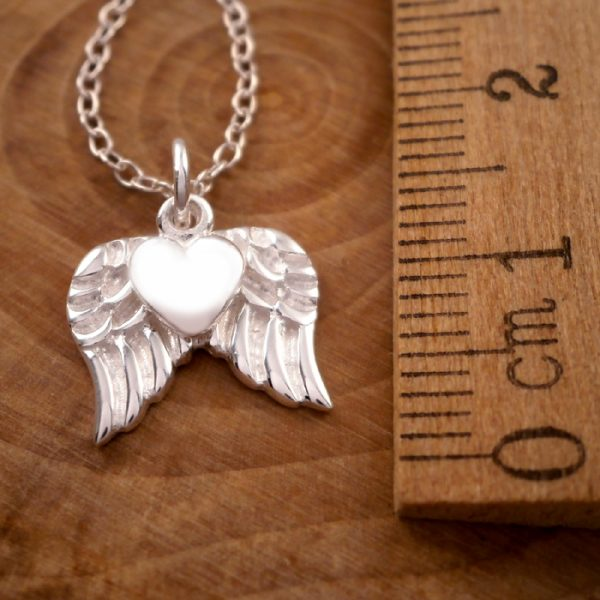 sterling silver angel wings and heart necklace swj15 4