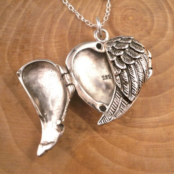 angel wings locket swj117 3