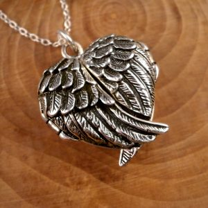 angel wings locket swj117
