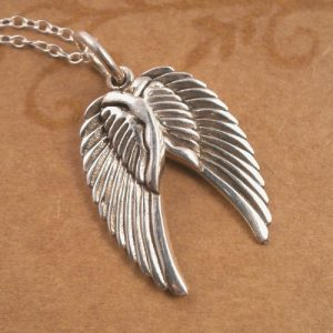sterling silver angel wings necklace swj10