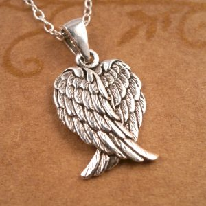 sterling silver angel wings necklace swj39