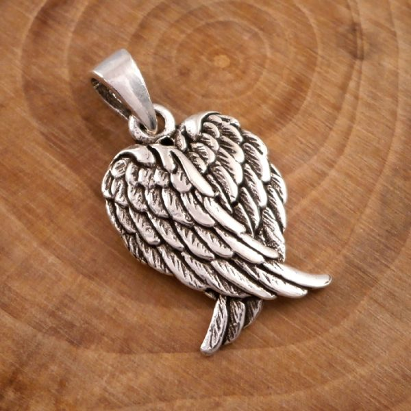 sterling silver angel wings necklace swj39 4