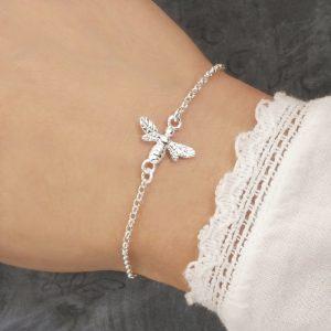 silver bee bracelet swj222