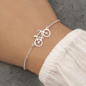 sterling silver bicycle bracelet bike bracelet swj235