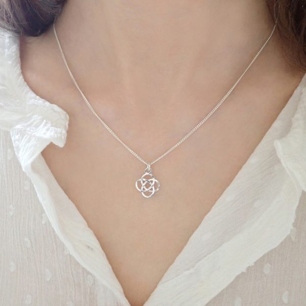 sterling silver celtic knot necklace swjn111 2