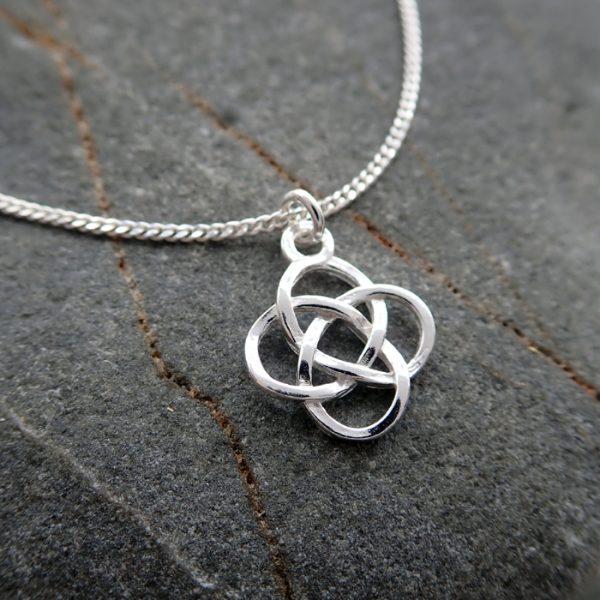 sterling silver celtic knot necklace celtic knot pendant swjn111