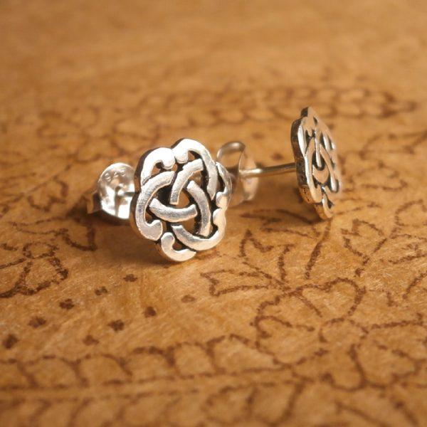 sterling silver celtic knot stud earrings swj83 2