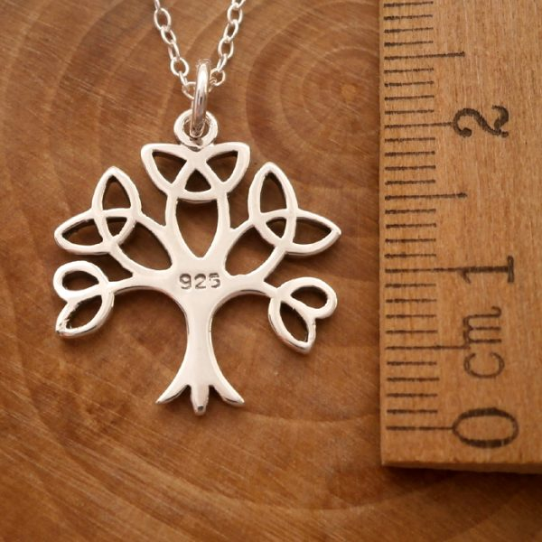 sterling silver celtic tree of life necklace swj115 3