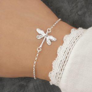 sterling silver dragonfly bracelet swj207