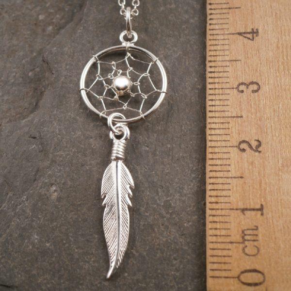 sterling silver dreamcatcher necklace swj74 2