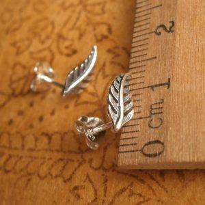sterling silver feather stud earrings swj05 2