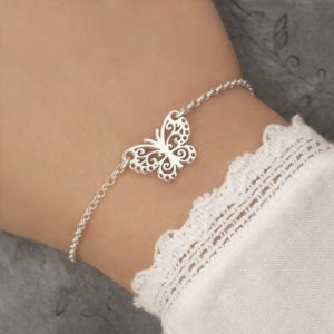 sterling silver filigree butterfly bracelet swj236