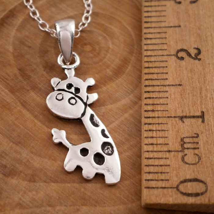 edit giraffe jewelry necklace silver spoon products b