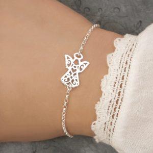 sterling silver guardian angel bracelet swj240