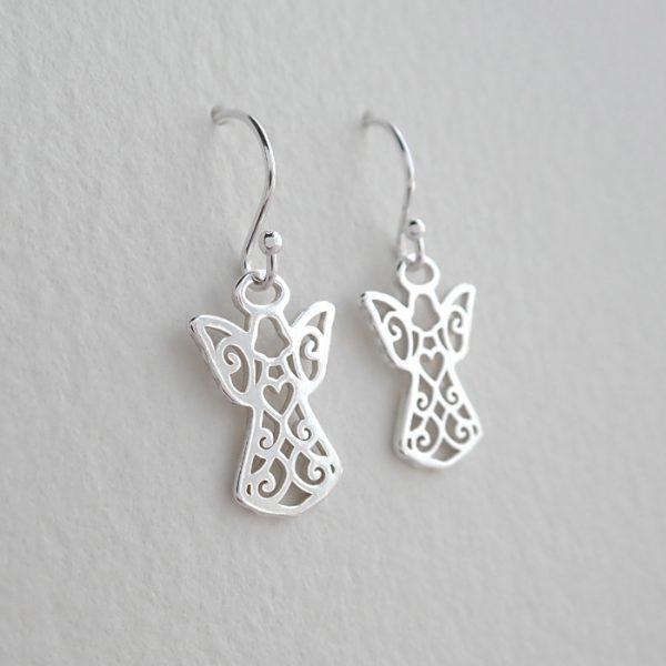 sterling silver guardian angel earrings swje121 3