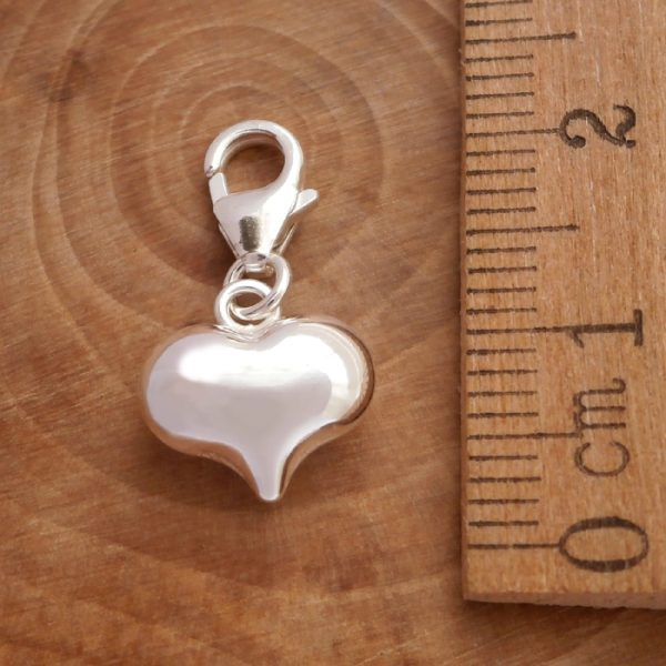 sterling silver clip on heart charm swj99 3