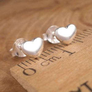 sterling silver heart stud earrings swj90 2