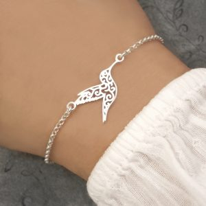 sterling silver hummingbird bracelet swj241