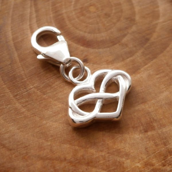 sterling silver clip on infinity heart charm swj98 2