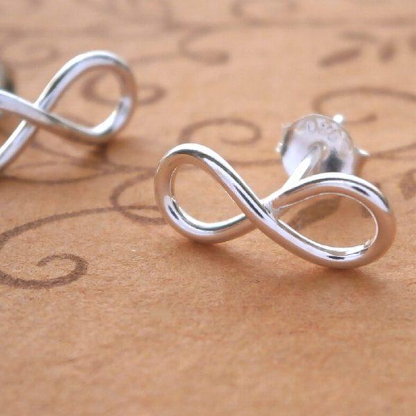 sterling silver infinity stud earrings swj33 2