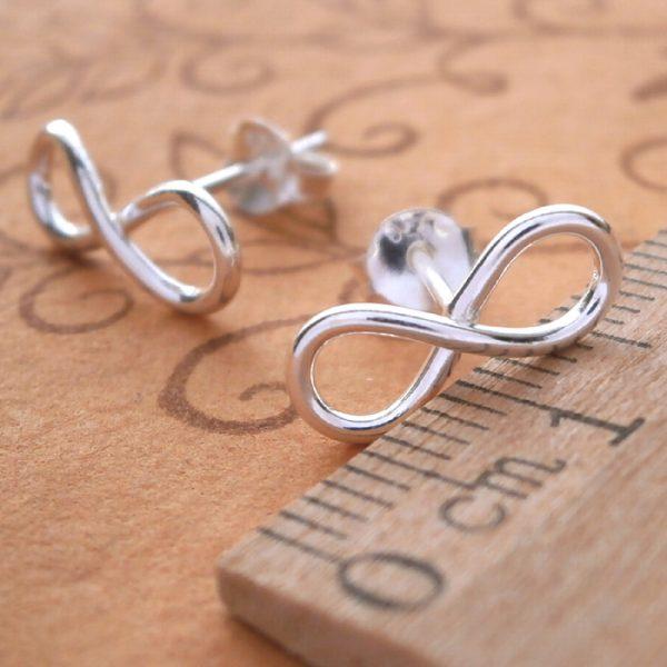 sterling silver infinity stud earrings swj33 3