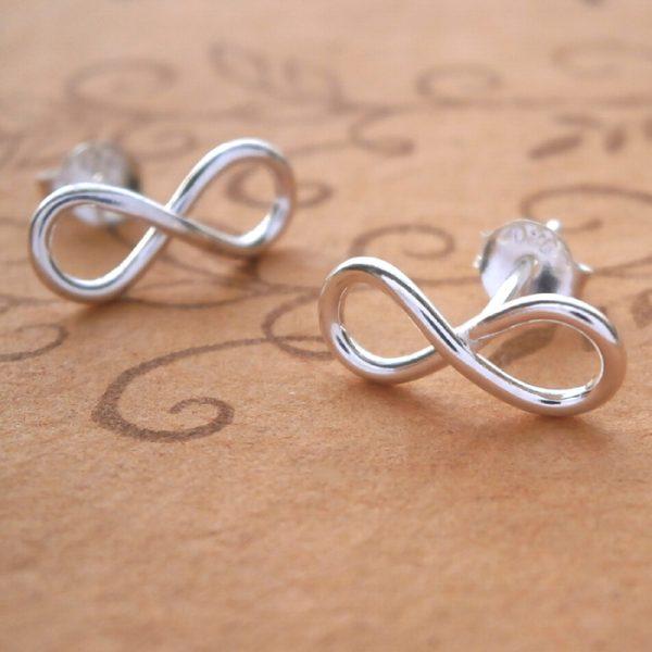 silver infinity earrings swj33