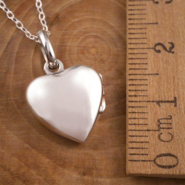sterling silver lily heart locket necklace swj91 3