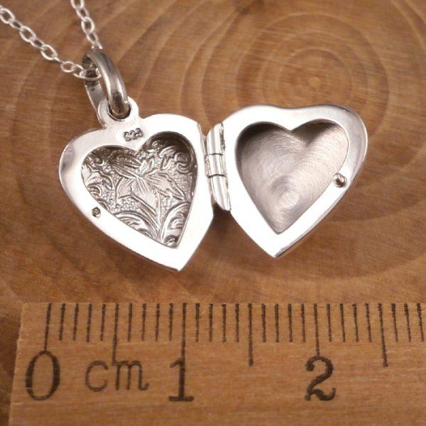 sterling silver lily heart locket necklace swj91 4