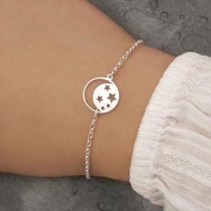 sterling silver moon star bracelet moon bracelet swj243